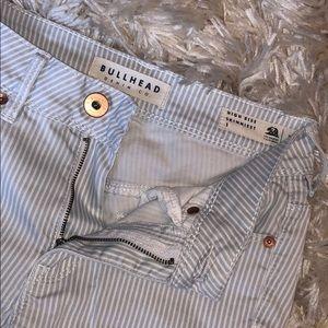 Bullhead striped skinny jeans